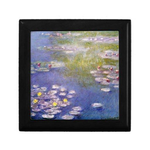 Nympheas en Giverny de Claude Monet Joyero Cuadrado Pequeño