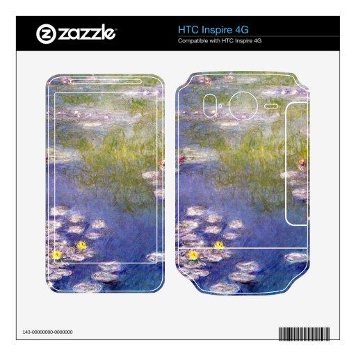Nympheas en Giverny de Claude Monet Calcomanías Para HTC Inspire 4G
