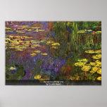 Nymphéas (lirio de agua) por Claude Monet Posters