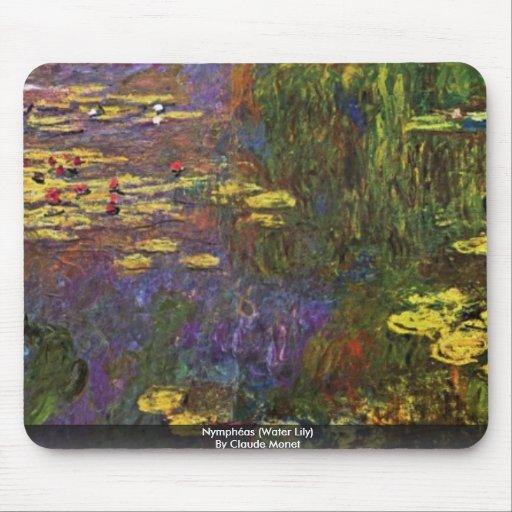 Nymphéas (lirio de agua) por Claude Monet Alfombrilla De Ratón