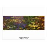 Nymphéas (lirio de agua) por Claude Monet Tarjetas Postales