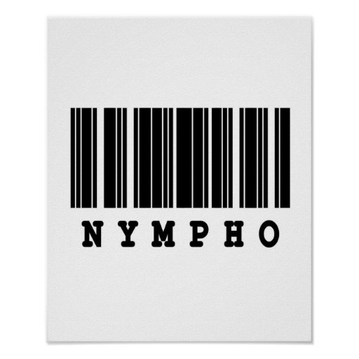 nympho barcode design poster