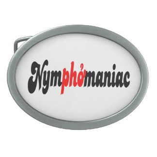 Nymphomaniac Oval Belt Buckles