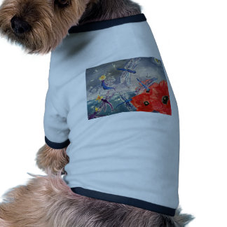 Nymphs and Dragonfly Watercolor Painting Doggie T Shirt