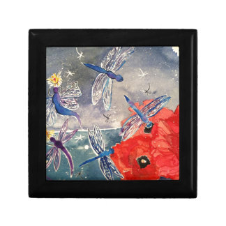 Nymphs and Dragonfly Watercolor Painting Jewelry Boxes