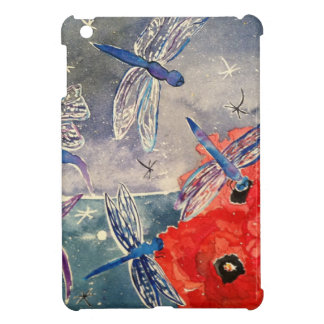 Nymphs and Dragonfly Watercolor Painting iPad Mini Case