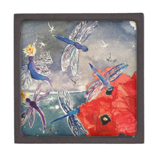 Nymphs and Dragonfly Watercolor Painting Premium Gift Box