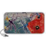 Nymphs and Dragonfly Watercolor Painting Notebook Speaker