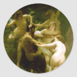 Nymphs and Satyr by William Adolphe Bouguereau Stickers