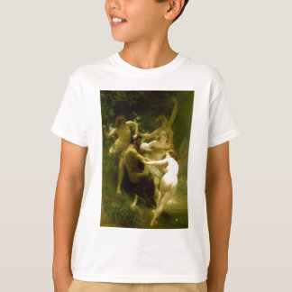 Nymphs and Satyr by William Adolphe Bouguereau T-Shirt