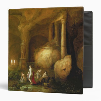 Nymphs Bathing by Classical Ruins 3 Ring Binders