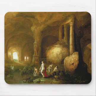 Nymphs Bathing by Classical Ruins Mouse Pad