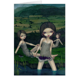 """""""Nymphs Collecting Berries"""" Greeting Card"""