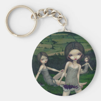 """""""Nymphs Collecting Berries"""" Keychain"""