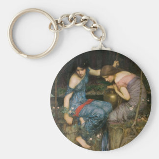 Nymphs Finding the Head of Orpheus Basic Round Button Keychain