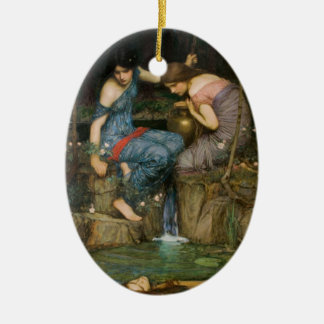 Nymphs Finding the Head of Orpheus Ceramic Ornament