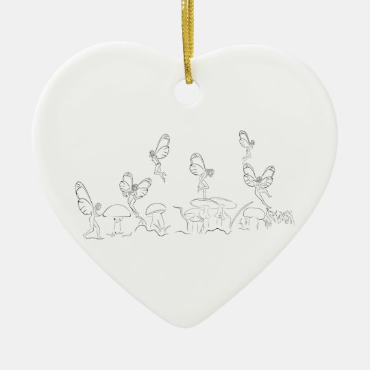 Nymphs in Fary World Ceramic Ornament
