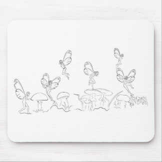 Nymphs in Fary World Mouse Pad