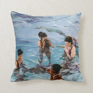 Nymphs in the water/Nymphs in to water Throw Pillow
