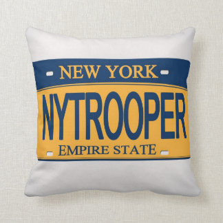 NYTROOPER NY License Plate Pillow