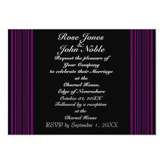Nyx (Purple) Wedding Invitation