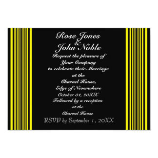 Nyx (Yellow) Wedding Invitation