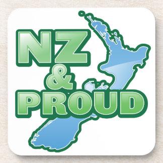 NZ and PROUD KIWI New Zealand Drink Coaster