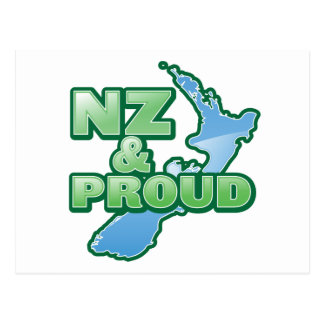 NZ and PROUD KIWI New Zealand Postcard