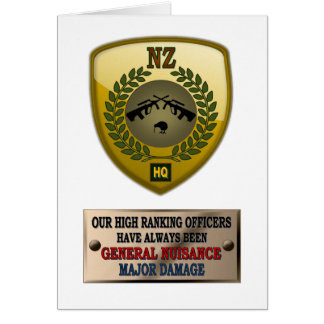NZ ARMY OFFICERS GREETING CARDS