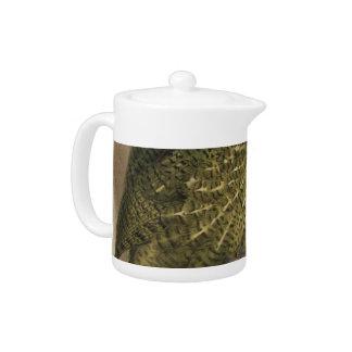NZ Birds - Kakapo Semi-Abstract Teapot