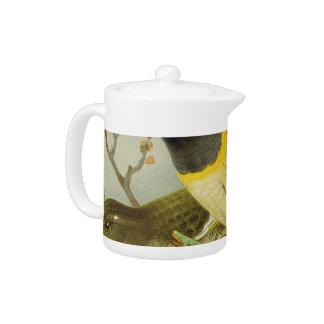 NZ Birds - Stitch Bird Semi-Abstract Teapot