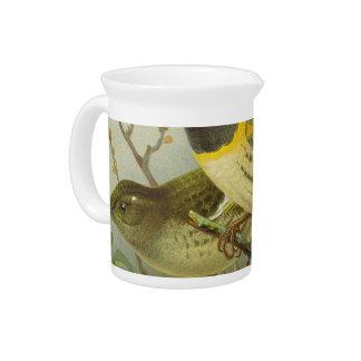 NZ Birds - Stitch Birds Semi-Abstract Drink Pitcher