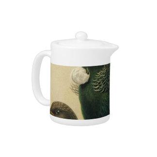 NZ Birds - Tui Semi-Abstract Teapot
