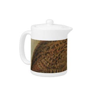 NZ Birds - Weka Semi-Abstract Teapot