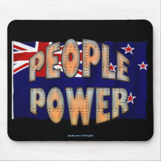 NZ FLAG People Power Independence Motivation Mousepads