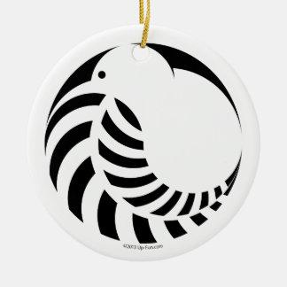 NZ Kiwi / Silver Fern Emblem Ceramic Ornament