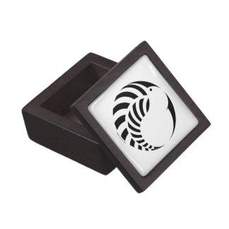 NZ Kiwi / Silver Fern Emblem Jewelry Box