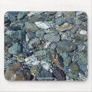 NZ LAKE WATERS & STONES Nature Mousepad