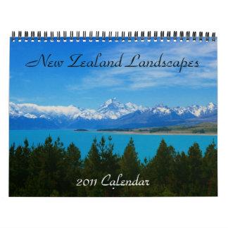NZ landscapes 2011 calendar