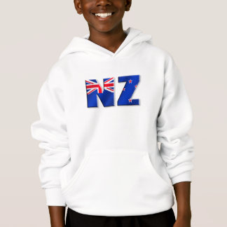 NZ logo flag of New Zealand Hoodie