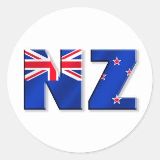 NZ logo flag of New Zealand Sticker