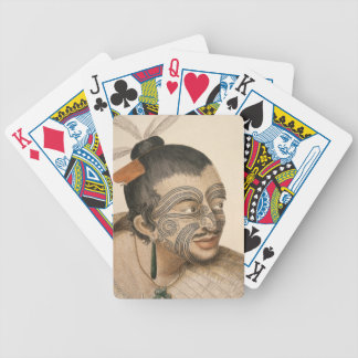 NZ Maori Leader Chief & Chietainess Art Bicycle Card Deck