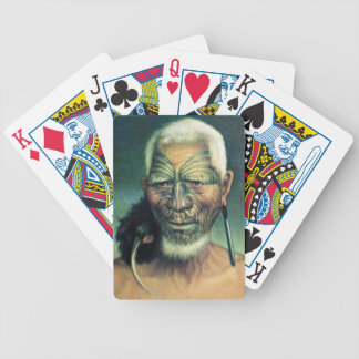 NZ Maori Leader Chief Historic Art Bicycle Card Deck