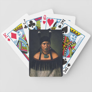 NZ Maori Leader Chieftainess Art Bicycle Card Deck
