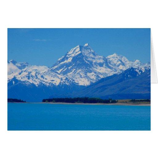 nz mountains greeting card