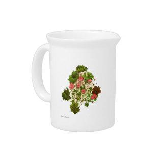 NZ Native Flowers - Geranium traversii Beverage Pitcher