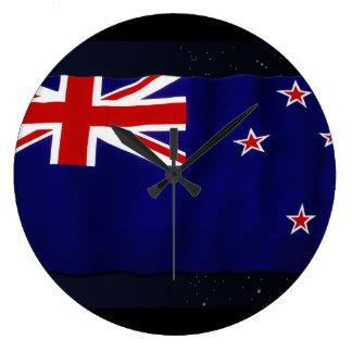 NZ - NEW ZEALAND Flag Proud Patriotic Wall Clock