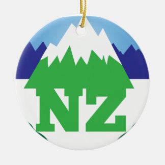 NZ NUEVA ZELANDA con una cordillera de moda Ornato