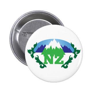 NZ NUEVA ZELANDA con una cordillera de moda Pins