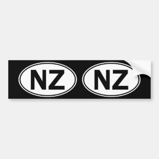 NZ Oval Identity Sign Bumper Sticker